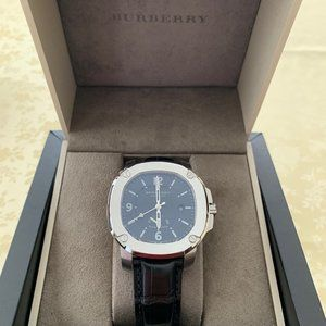 Burberry The Britain Power Reserve BBY1002 Black Swiss Made Automatic